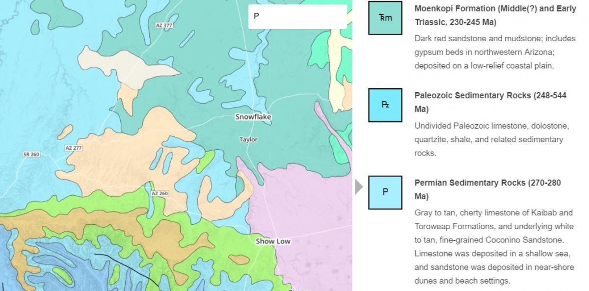 Geologic Map Of Arizona.Understanding Maps Earth Science